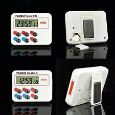Portable Digital LCD Kitchen Cooking Electronic Timer Clock 12/24 hours