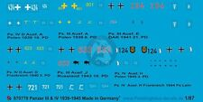 Peddinghaus 1/87 (HO) German Panzer III and IV Tank Markings WWII (7 tanks) 770