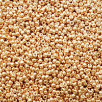 Miyuki 8/0 Seed Beads - Gold Galvanized - 3mm (8-1052) 24 gram bag UK EBAYER