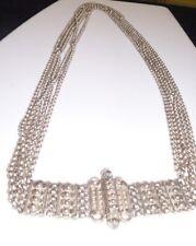 Yemen Prayer Filigree Silver Belt Necklace Handcrafted 5 Chains Screw Buckle