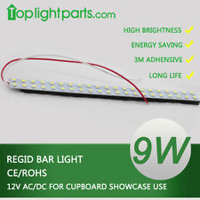 (2pcs) x 16inch 40CM Cupboard Showcase 12V AC/DC White LED Regid Strip Light Bar