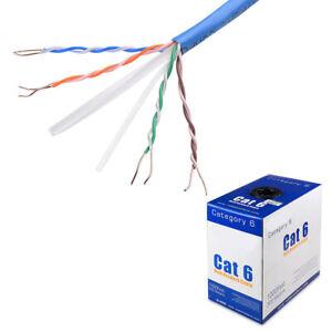 1000F Cat 6 Cat Ethernet Bulk Cable Network Wire RJ45 Lan 300M 300 M Cat6 1000Ft