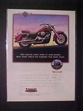 OLD~JAPANESE KAWASAKI JAPAN MOTORCYCLE MOTOR BIKE ART PRINT AD~ORIG VINTAGE 1996