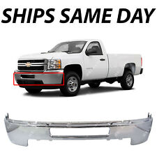 NEW Chrome Steel Front Bumper for 2011-2014 Chevy Silverado 2500HD 3500HD Truck
