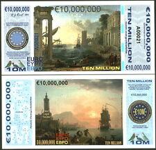 POLYMER 10 MILLION (10000000) EURO 2015 HARBOR SCENES FANTASY ART CONCEPT NOTE!