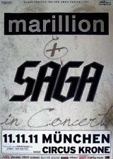 MARILLION - 2011 - Konzertplakat - Saga - In Concert - Tourposter - München