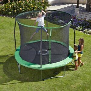 Sportspower 10FT Quad Lok Trampoline Kids Outdoor Trampoline Green