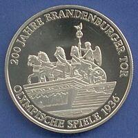 Medaille 200 Jahre Brandenburger Tor Olympische Spiele 1936 Ø 40 mm 27 Gr B49/09