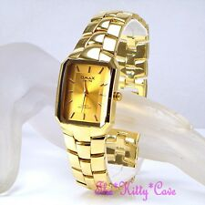 OMAX Classic Designer Square Gold Swiss Epson Seiko Movt Mens Gents Watch HSK061
