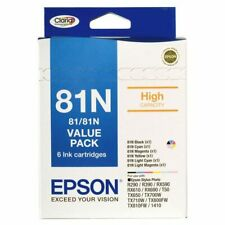 EPSON 81N High Yield 6-Ink Cartridge Value Pack | R290,T50,TX810,RX610 | NEW