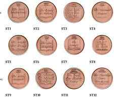 Set of 12 Copper Step Medallions Copper Sobriety Medallion Set AA NA Recovery