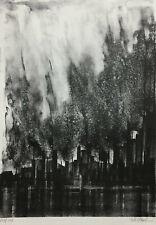 MID CENTURY MODERN R.A. Florsheim ~ BLAST FURNACES, CHICAGO ~ Lithograph 1968