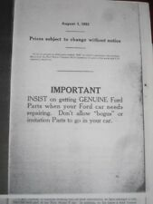 PHOTOCOPY: 1923 FORD Model T Illustrated Parts Book