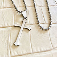 EDELSTAHL Kette ROSENKRANZ Kreuz 🔴SALE🔴 JESUS Design Milano fitness Rosary 2
