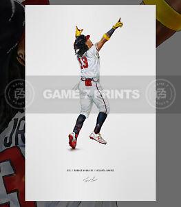 Ronald Acuna Jr. Atlanta Braves Illustrated Baseball Print Poster Art