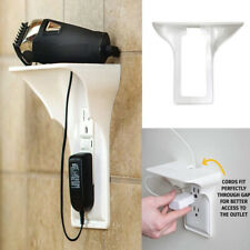 Wall Outlet Shelf Socket Mobile Phones Holder  Charging Power Storage Rack White