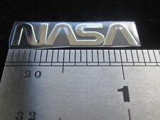 RARE  NASA NASA METAL DECAL STICKER 1 INCH