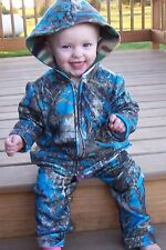 Camouflage Two Piece Fleece Blue 12 to 18 Months
