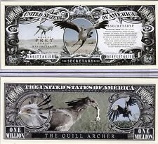The Secretary Bird - Birds of Prey Million Dollar Novelty Money