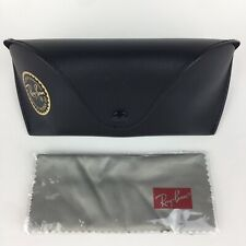 Ray-Ban Black Leather Sunglasses Case Unisex EUC with New Cleaning Cloth