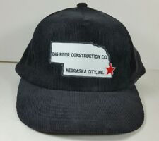 Vintage Snapback Hat Trucker Advertising Corduroy Patch Construction Cap