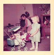 LITTLE MOTHERS GIRLS BABY DOLL STROLLERS IRONING BOARD CHRISTMAS TOYS VTG PHOTO