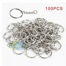 100 Pcs DIY Key Rings Key Chain With Link Chain Key Holder 25mm Wholesale