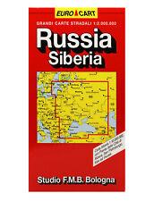 RUSSIA SIBERIA CARTINA STRADALE 1:2.000.000 [CARTA/MAPPA] STUDIO F.M.B. BOLOGNA