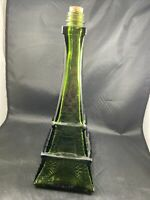 "Vintage Glass Eiffel Tower Bottle Wine Decanter 12"" Tall Decorative"