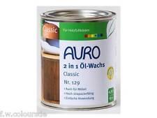 AURO 2 in 1 Öl - Wachs Classic Nr. 129 0,75 Liter Imprägnierung Möbel Holz