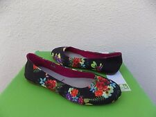 SANUK YOGA EDEN BLACK TROPIC AMAZON BALLET FLATS SHOES, US 7/ EUR 38 ~NWT