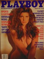 Playboy March 1991 | Madonna Stephanie Seymour Julie Anne Clarke 1027+
