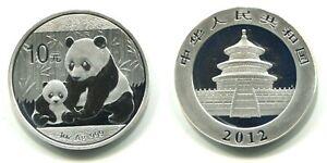 "10 Yuan China 2012 ""Panda""  1 oz Silber"