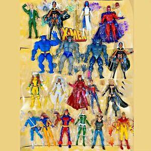 Marvel Legends Retro Rogue Storm Beast Professor X Magneto X-Men 2 3 pack UPICK!