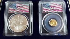 WTC Recovery Coin Set 1 of 1000 - 2001 Silver Eagle/1999 $5 Gold Eagle MS69 RARE