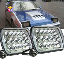 7x6 5X7 LED HEADLIGHT LIGHT BULB CRYSTAL SEALED BEAM HEADLAMP 4500LM Pair