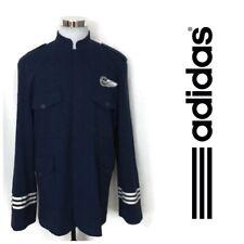 Vintage Rare Adidas Airline Pilot Jacket Men's Military Wool Blend Coat Blue