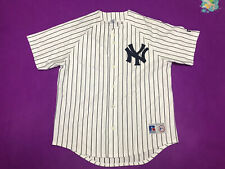 MLB New York Yankees Russell Athletic White Jersey Size L Mens
