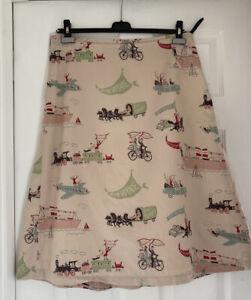 Boden Bon Voyage Skirt Size 16L Rare