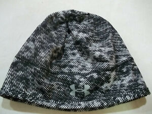 Under Armour Womens OS GREY/WHITE Ponytail Running Hat Beanie Cap Athletic