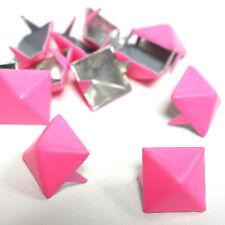 200 Stück ! Pyramidennieten 13mm / PINK / Biker Pyramiden Ziernieten Rock Nieten