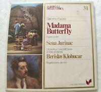 MADAMA BUTTERFLY GIACOMO PUCCINI LP SENA JURINAC KLOBUCAR VINYL ITALY 1981 NM/NM