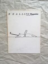 Real Life Magazine #2 Oct 1979 Barbara Kruger Dick Higgins Something Else Press