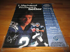 1996 Life is Good FOOTBALL is Better DOUG FLUTIE No. 2 TORONTO ARGONAUTS Poster