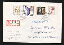 Hanover, West Germany--1989 Registered Cover to the Netherlands