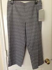 NWT Talbots Black and white Capri cropped pants 8P 8 Petite
