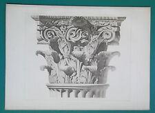 ROME Temple of Jupiter Stator Corinthian Capital - 1905 d'Espouy Antique Print