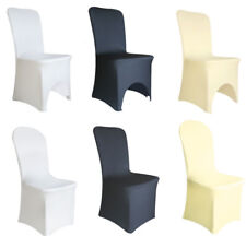 SPANDEX / 100PCS CHAIR COVER WHITE / BLACK / IVORY COVERS BANQUET WEDDING PARTY