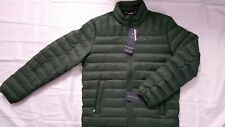 TOMMY HILFIGER MENS PACKABLE NATURAL DOWN GREEN QUILTED...