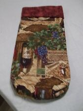 """Wine Bag - Quilted - Approximately 14"""" long by 7"""" wide - never used"""